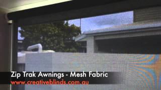 Creative Blinds & Awnings Zip trak Mesh Fabric Evans Head