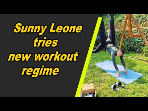 Sunny Leone tries new workout regime