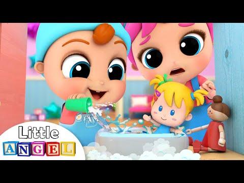 Baby John Plays with Jill's Toys | Little Angel Kids Songs & Nursery Rhymes