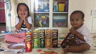 Indomie Enak Resep Zara 😘 Pringles Challenge
