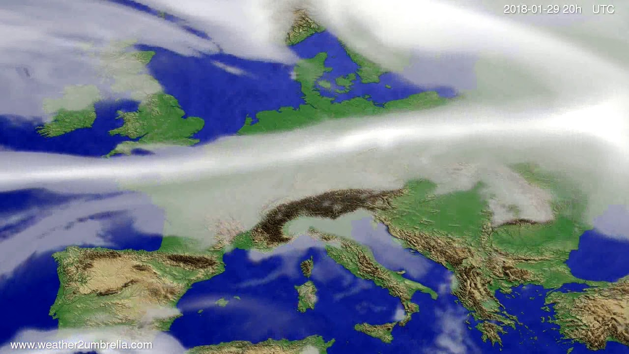 Cloud forecast Europe 2018-01-26