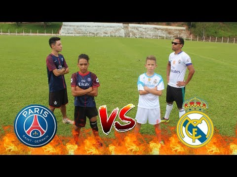 PSG VS REAL MADRID ( Desafio 2 vs 2) (Aladdin vs Bolivia)
