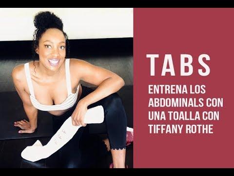 """Entrena tu abdominales con una toalla con Tiffany Rothe """"TABS"""""""