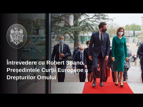 Președintele Maia Sandu s-a întâlnit, la Strasbourg, cu Președintele CEDO, Robert Spano