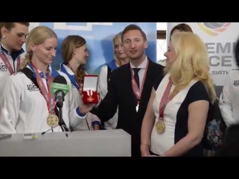 Chemik Police świętuje zdobycie podwójnej korony: tytułu Mistrza Polski i Pucharu Polski. 07-09.05.2014.