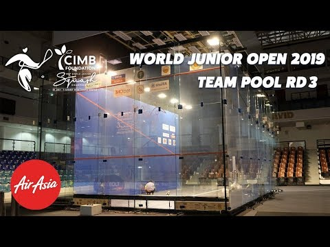 WSF World Junior Open  2019 - Malaysia v Canada - Teams Pools Rd 3 Replay