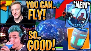 Streamers *SHOCKED* BY NEW BALLER VEHICLE & HEALING ANIMATIONS! - Big Changes! (Fortnite Moments)