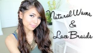 Natural Looking Waves & Braids Side Swept Hairstyle