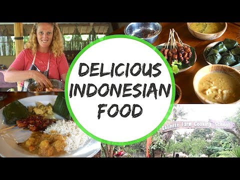 DELICIOUS INDONESIAN FOOD - COOKING CLASS IN UBUD, BALI