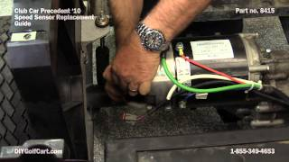 Barry shows you how to replace a speed sensor on a Club Car Precedent golf cart. This speed sensor fits Advance electric motors...