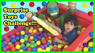 Giant Ball Pits Surprise Toys Challenge with Ryan