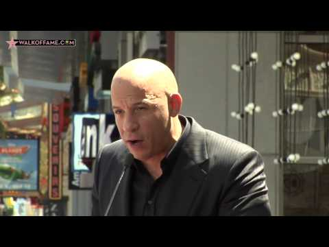Vin Diesel Walk of Fame Ceremony