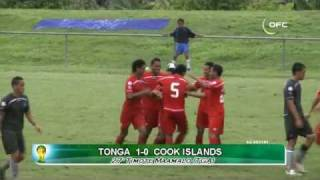 Tonga have beaten Cook Islands 2-1 at J.S. Blatter Stadium in Apia, Samoa, in Stage 1 of the 2014 FIFA World Cup qualifiers ...