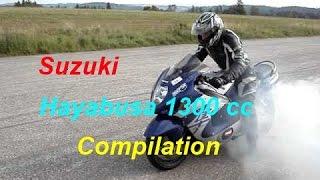 4. Suzuki Hayabusa 1300 cc - (Brutal Compilation) Loud Exhaust Sound @ Full Power @ Stunt @ Speed