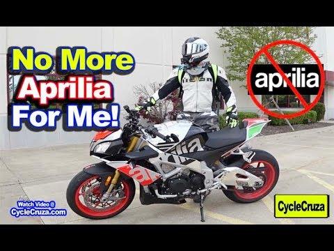 Why I WON'T BUY APRILIA Motorcycles Anymore (Selling Aprilia Tuono)