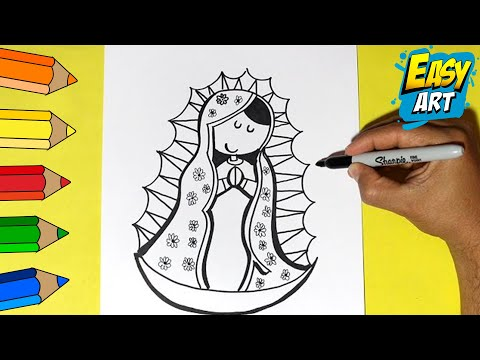 Como Dibujar La Virgen De Guadalupe - How To Draw A Virgin Of Guadalupe
