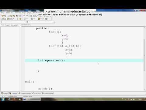 C++ Dersleri 34 - 1.Kısım ucuz bilet www.otobusbileti.gen.tr/