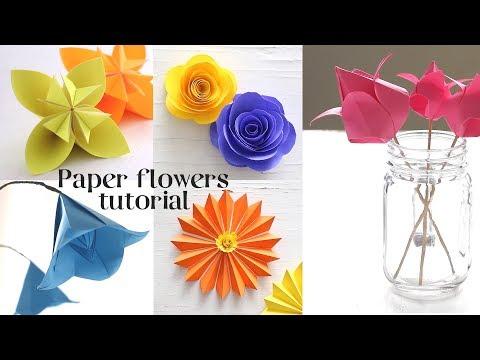 5 easy paper flowers tutorials mightylinksfo
