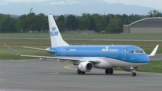 KLM KL 1893 operated by KLM Cityhopper Amsterdam Airport - Graz Airport 23.05.2017 Departure: 09.25 Arrival: 11.10 Landing Graz Airport  GRZ  LOWG Runway 3...