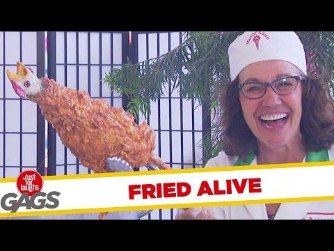 Troll Hài Hước 2015 - Chicken Fried Alive