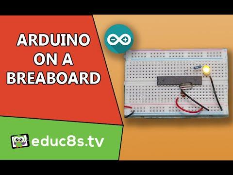 Arduino Uno (ATMEGA328P) on a breadboard Tutorial DIY project. Easy guide.