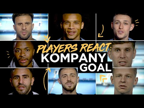 MAN CITY PLAYERS REACT! | Squad speaks about THAT goal from Kompany...
