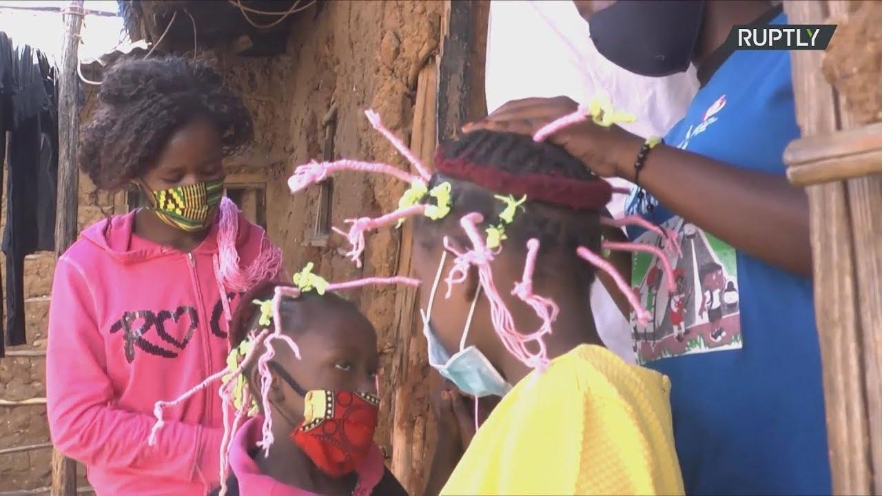 """Κένυα: H κόμμωση """"Corona-style"""" βοηθά στην ευαισθητοποίηση για την ασθένεια"""