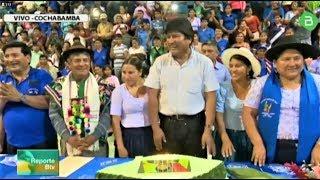 6 federaciones del trópico de cochabamba festejaron al PDTE. Evo Morales Ayma