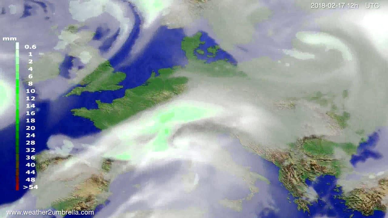 Precipitation forecast Europe 2018-02-15