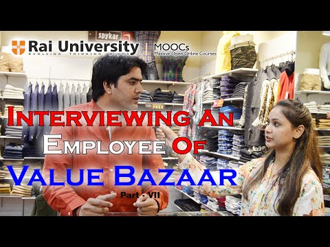 Interview with a Employee of Value Bazaar Part VII Entrepreneurship