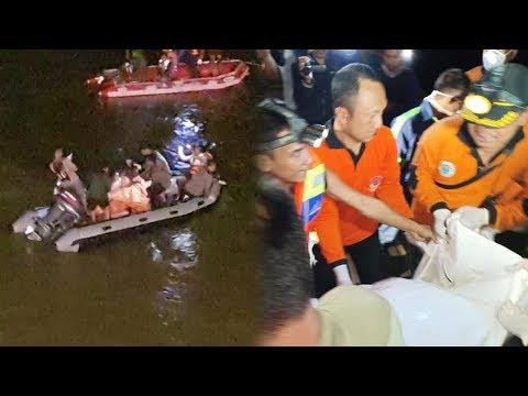 Dua Hari Pencarian, Tim SAR Temukan Mobil Yang Tercebur Di Sungai Brantas, 3 Korban Dievakuasi