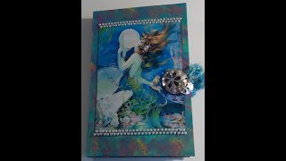 """A Junk Journal with a Mermaid theme. It measures 8 1/2"""" x 5 1/2"""".The journal is available in my Etsy shop at: https://www.etsy.com/listing/537277443/mermaid-theme-junk-journal?ref=listings_manager_gridJournal Kit: https://www.etsy.com/shop/IvyShuttersEphemera: https://www.etsy.com/shop/VectoriaDesignshttp://thegraphicsfairy.com/"""