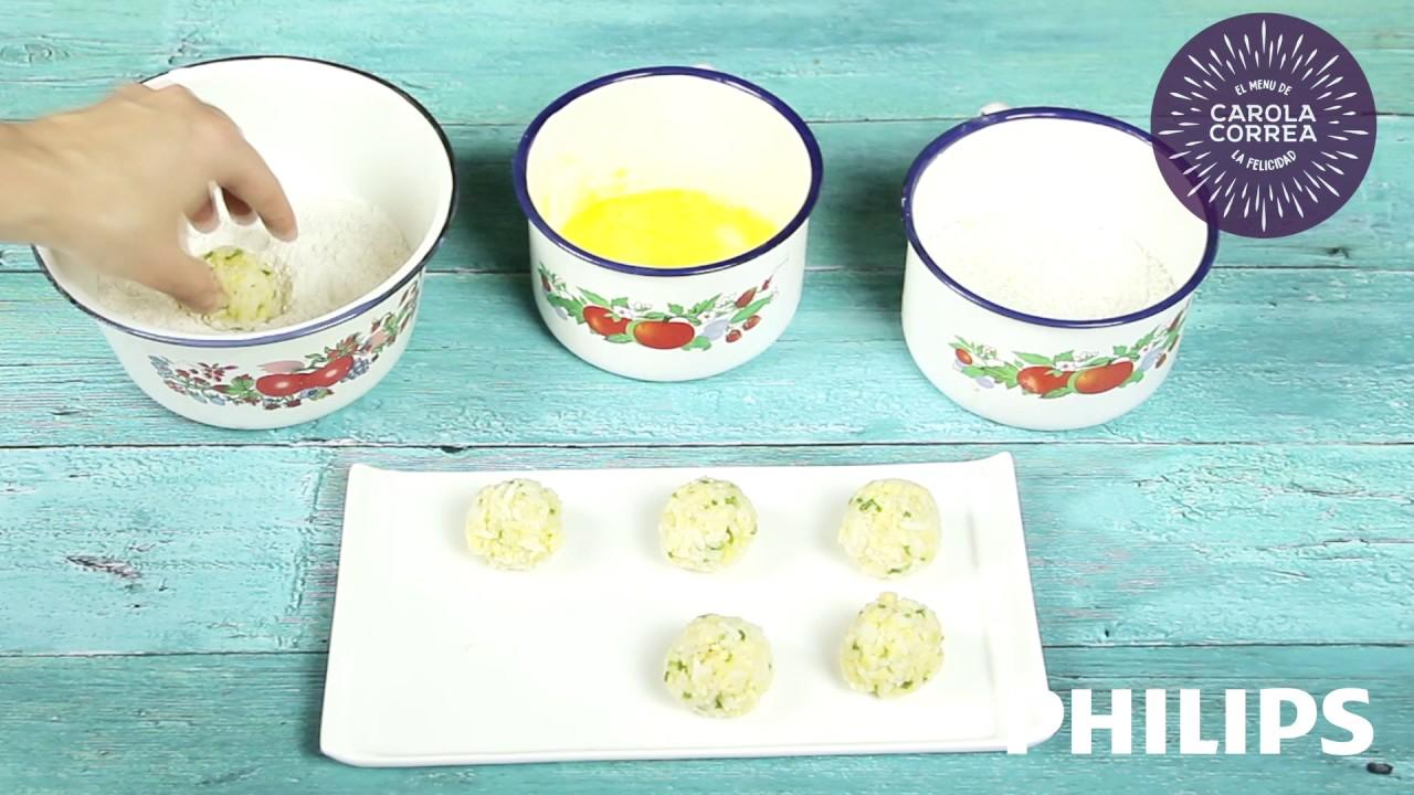 Albóndigas de  arroz estilo thai