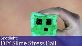 How To Make A DIY Minecraft Slime Stress Toy