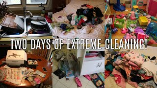Video TWO DAYS OF EXTREME CLEANING! WHOLE HOUSE CLEAN WITH ME | CLEANING MOTIVATION 2019 MP3, 3GP, MP4, WEBM, AVI, FLV Juli 2019