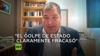 """Dígame qué elección ganó Guaidó"": Rafael Correa sobre Venezuela"
