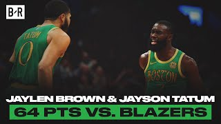 Jaylen Brown And Jayson Tatum Went Off vs. Blazers | Game Highlights by Bleacher Report