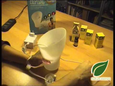 Lampada Diffusore Aromaterapia Homedics - Preparazione, funzionamento