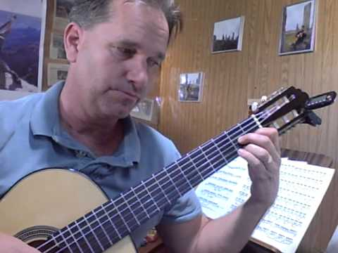 learn the Classical guitar,  Tarrega study in e minor