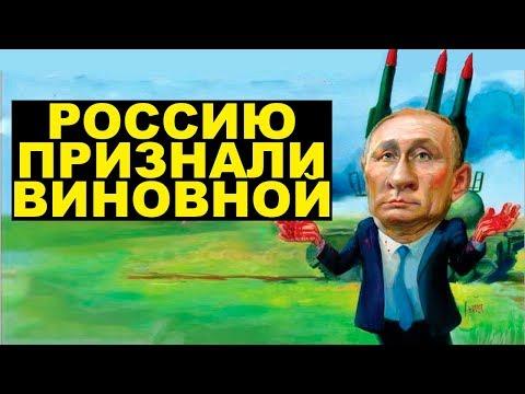 Россию признали виновной в крушении Боинга над Донбассом