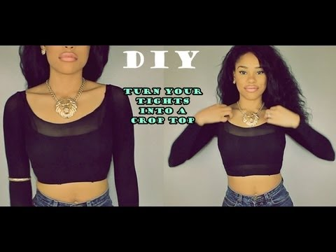 DIY Turn your old Tights into a cute Top!