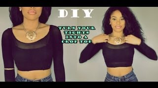DIY: How to Turn your old Tights into a cute Top! - YouTube