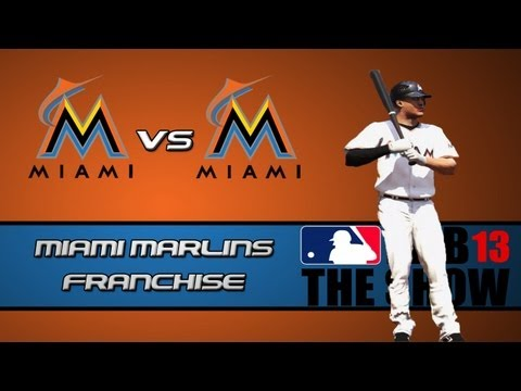 Marlins - Today is the day we start my long awaited Miami Marlins franchise on MLB 13 The Show, I have a feeling this series is going to be a great one, so hopefully y...