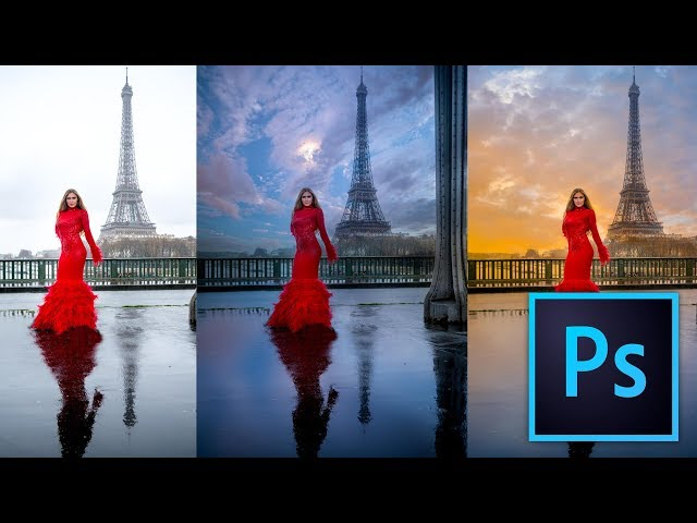 How to Easily and Quickly change a Sky in Photosho