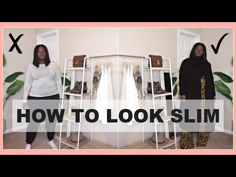 HOW TO LOOK SLIMMER I OUTFIT IDEAS STYLE GUIDE I CURVY PLUS SIZE FASHION видео