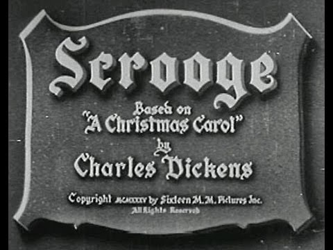 SCROOGE (1935) - Full Movie - Captioned