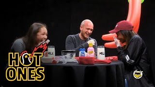 World's Hottest Chip Challenge featuring Emily Oberg and Nadeska Alexis | Hot Ones