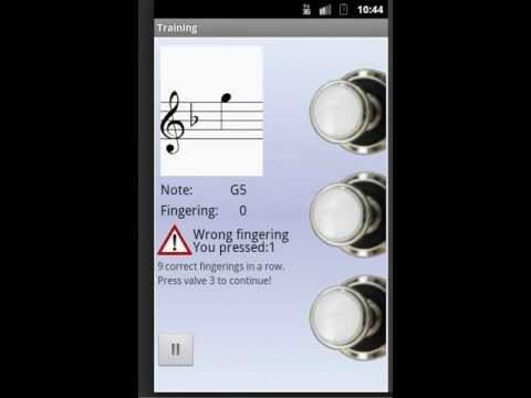 Video of Trumpet Fingering Trainer Demo