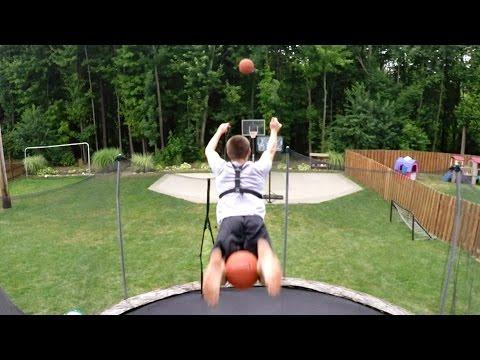 GoPro: Basketball Trampoline Trickshots with Kevin Libertowski (видео)
