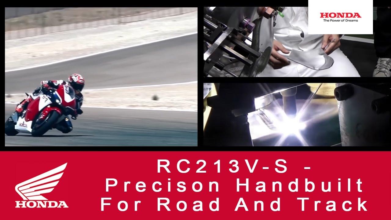RC213V-S – precizní ruční práce pro jízdu na silnici i závodní dráze